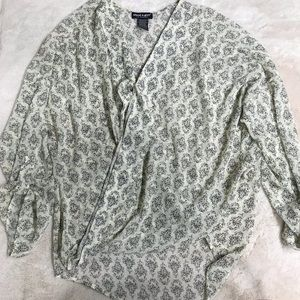 About A Girl Floral Wrap Blouse